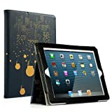 RUBAN iPad 2/3/4 Case Release[Corner Protection]-[Scratch-Resistant]and High-grade PU Leather Folio Stand Smart Cover,Auto Wake/Sleep for Apple iPad 2th/3th/4th Gen with Retina Display,City Night View (Color: City Night View, Tamaño: iPad 2/3/4)