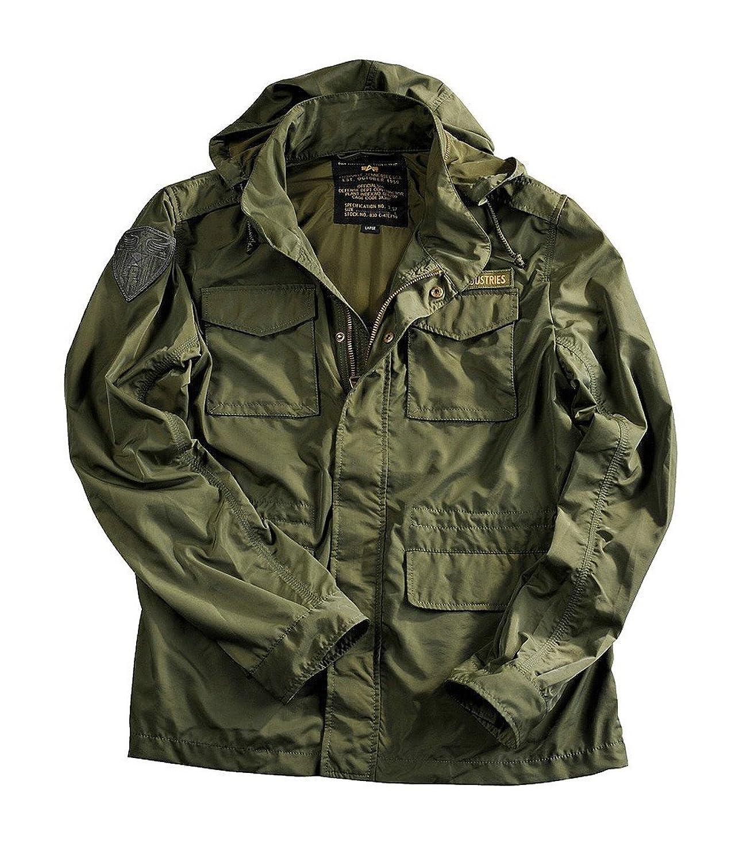 Alpha Industries Unit Jacke mit Brustlogo, leichter Sommerparka im M65 Style günstig kaufen
