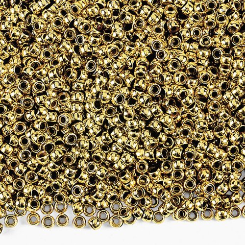 Gold Pony Beads (2000 pc)