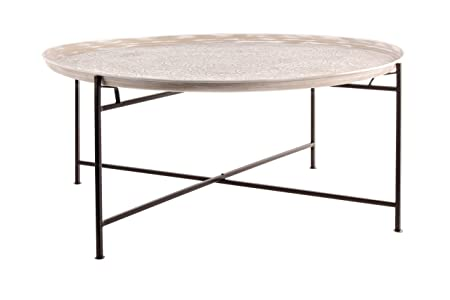 Tavolino ferro con piatto D 100