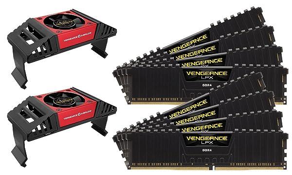 Corsair CMK64GX4M8X3800C19 Vengeance LPX 64GB (8x8GB) DDR4 3800 (PC4-30400) C19 Memory for Intel X299 Black (Color: Black, Tamaño: 64GB Kit (8 x 8GB))