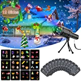 LED flashlight Projectors for Outdoor Chirstmas Decoration, Handheld Indoor Kids Halloween Projection Rechargeable Lights for Christmas Halloween Party Holiday Birthday (Color: Black, Tamaño: LED flashlight Projectors)