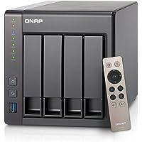 QNAP 4-Bay Personal Cloud NAS with Remote Control (Black)