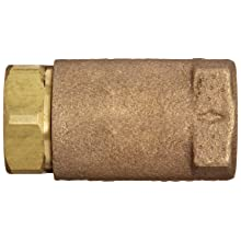 "Dixon 61-101 Brass Ball Cone Check Valve, 1/4"" NPT Female"