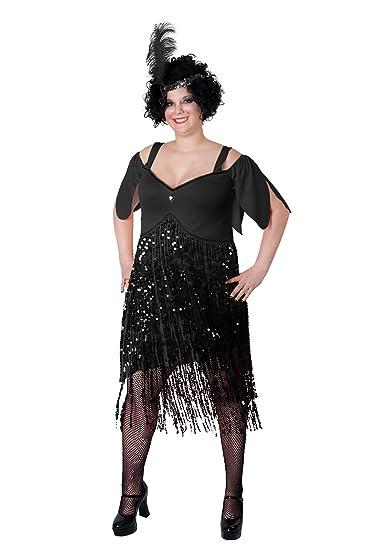 Long flapper dress plus size