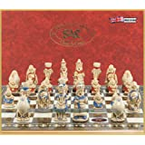 Studio Anne Carlton Alice in Wonderland Chess Set - Handmade and Hand Painted - 3.5 Inches (Color: One Colour, Tamaño: One Size)