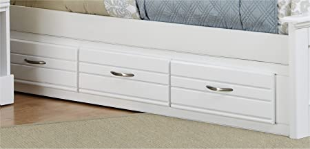 Carolina Furniture Works 518350 Storage Unit - 3 Drawr 5-0 6-6 - White