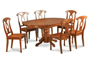 East West Furniture AVNA5-SBR-W 5-Piece Dining Table Set