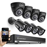 Amcrest 960H 8CH 1TB Security System - Eight 800+ TVL IP66 Bullet and Dome cameras (Black)