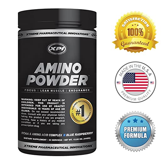 XPI Amino Powder (Blue Raspberry) - 15.8 OZ - BCAA & Amino Acid Complex
