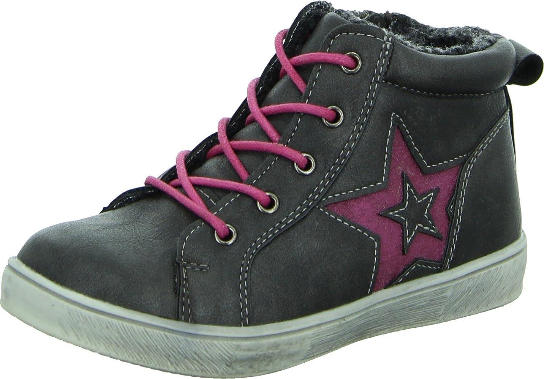 girlZ onlY Sneaker Mädchen Kinderschuh Streetstyle Reißverschluss Sternchen Pink Wasserabweisend günstig bestellen