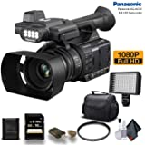 Panasonic AG-AC30 Full HD Camcorder (AG-AC30PJ) with 16GB Memory Card, LED Light, Case and More. - Starter Bundle (Tamaño: Starter Bundle)