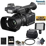 Panasonic AG-AC30 Full HD Camcorder (AG-AC30PJ) with 16GB Memory Card, LED Light, Case and More. - Starter Bundle (Tamaño: Starter Bundle)