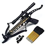Ace Martial Arts Supply Cobra System Self Cocking Pistol Tactical Crossbow, 80-Pound (Scope with 39 Arrows and 2 Strings) (Color: Scope with 39 Arrows and 2 Strings)