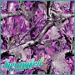 PURPLE PINK and GREY TREE CAMOUFLAGE PATTERN Craft Vinyl 3 sheets 12x12 Muddy Inspired Girl Camo