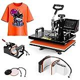 Heat Press Machine 15x15 inch - TUSY 5 in 1 Swing Away Digital Industrial Sublimation Printing Press Heat Transfer Machine for T-Shirt Hat Mug Plate (Tamaño: 15*15 5in1)
