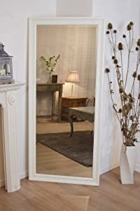 Large Shabby Chic Ornate Full Length Cream Wall Mirror 5ft4 x 2ft5       Customer review and more information