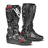 Sidi Crossfire 3 SRS Offroad Boots Black (EU 43 / US 9.5) (Color: Black, Tamaño: 43)