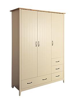 Steens Furniture Norfolk 112/228 Kleiderschrank, Holz, creme, 56 x 142 x 192 cm