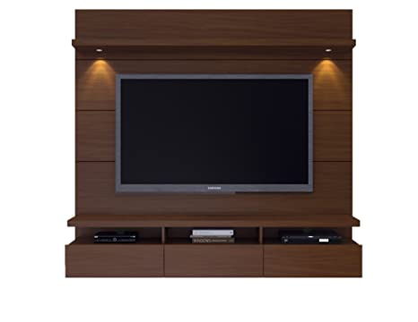 Manhattan Comfort Cabrini 1.8 Theater Entertainment Center Panel, Nut Brown