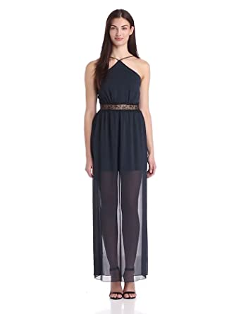 BCBGeneration Women's High Slit Maxi Dress, Dark Night, 4