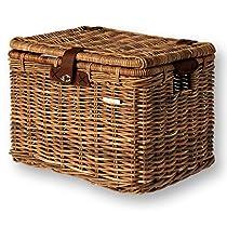 Basil Denton Wicker Basket w/Lid - Large: 45 x 32 x 32cm Nature Brown