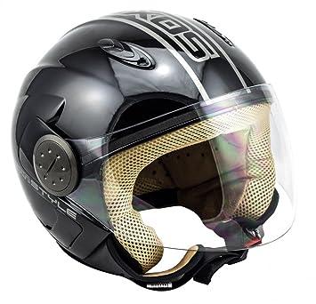 SOXON SP-317 Urban noir casque JET moto Cruiser Pilot helmet - XL