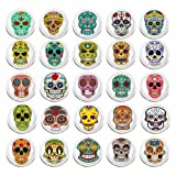 100 Pieces Creative Fashion Steel Thumb Tacks Push Pins Decorative Different Patterns for Photos Wall, Maps, Bulletin Board or Corkboards (Skull) (Color: Skull)