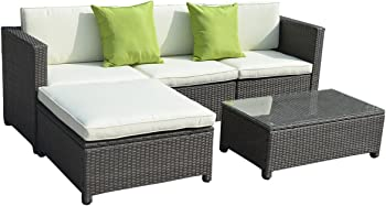 Goplus 5PC Outdoor Patio Sofa Set