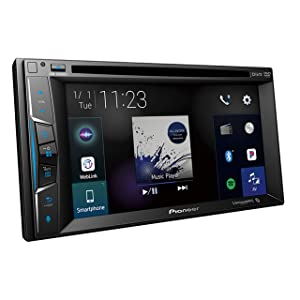Pioneer AVH-1500NEX/GMagnet AVH-1500NEX Multimedia DVD Receiver with 6.2 WVGA Display with Apple CarPlay, Bluetooth, and SiriusXM-Ready with Gravity Phone Magnet Holder
