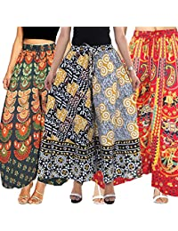 Set Of Three Beautiful Palazzo Pants & Pajama Long Cotton Free Size, Free Shipping