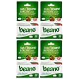 Beano Food Enzyme Dietary Supplement | Help Digest Gas-Causing Foods | 30 Tablets| 4 Boxes | Packaging May Vary