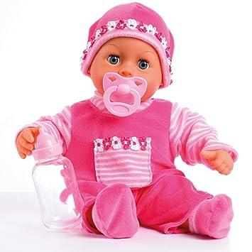 Bayer Design - 93800-pink - Poupon Bébé - Premiers Mots Avec 24 Sons - Rose - 38 Cm