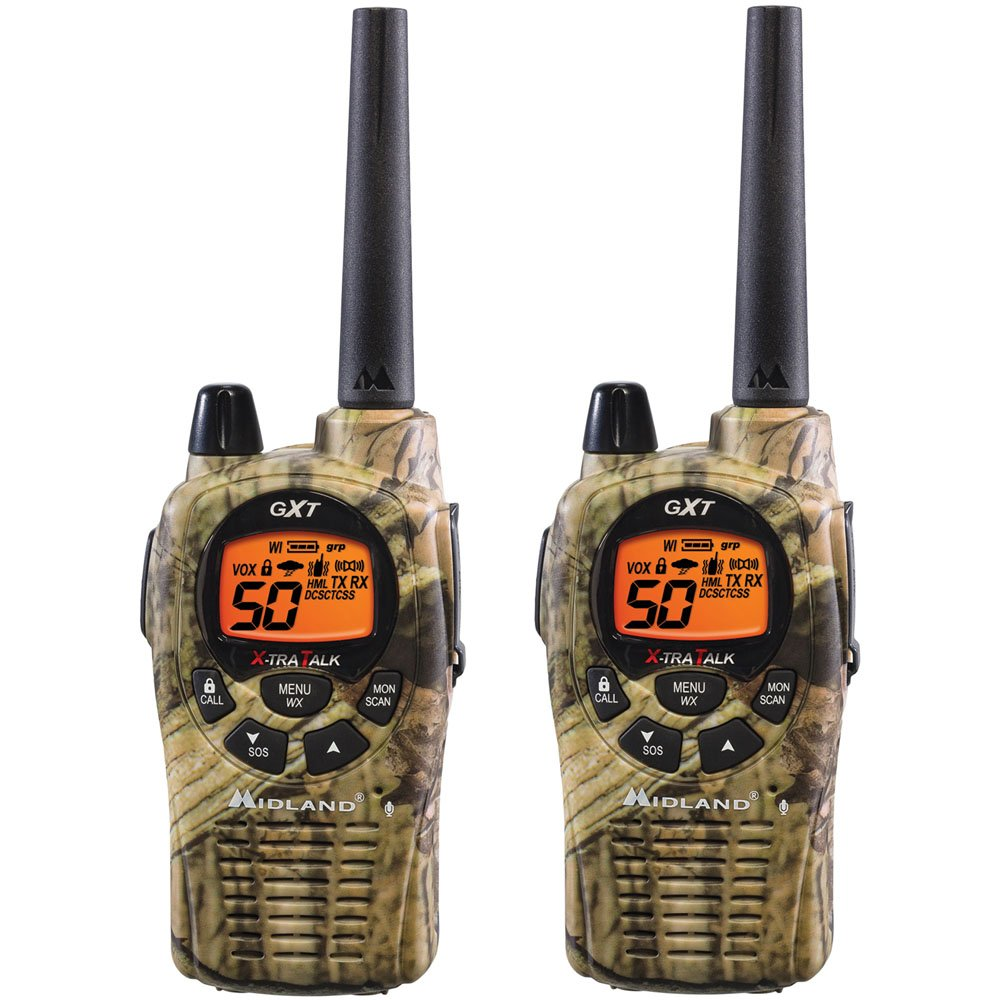 Midland GXT1050VP4 36-Mile 50-Channel FRS/GMRS Two-Way Radio (Pair)