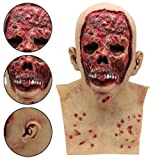 Matoen Bloody Zombie Mask Melting Face Latex Costume Walking Dead Halloween Scary Mask Horror Spoof Tricky Toy (A, AS Show) (Color: As Show, Tamaño: A)