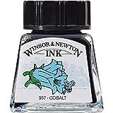 Winsor & Newton Drawing Ink Bottle, 14ml, Cobalt (Color: Cobalt, Tamaño: 14-ml Bottle)