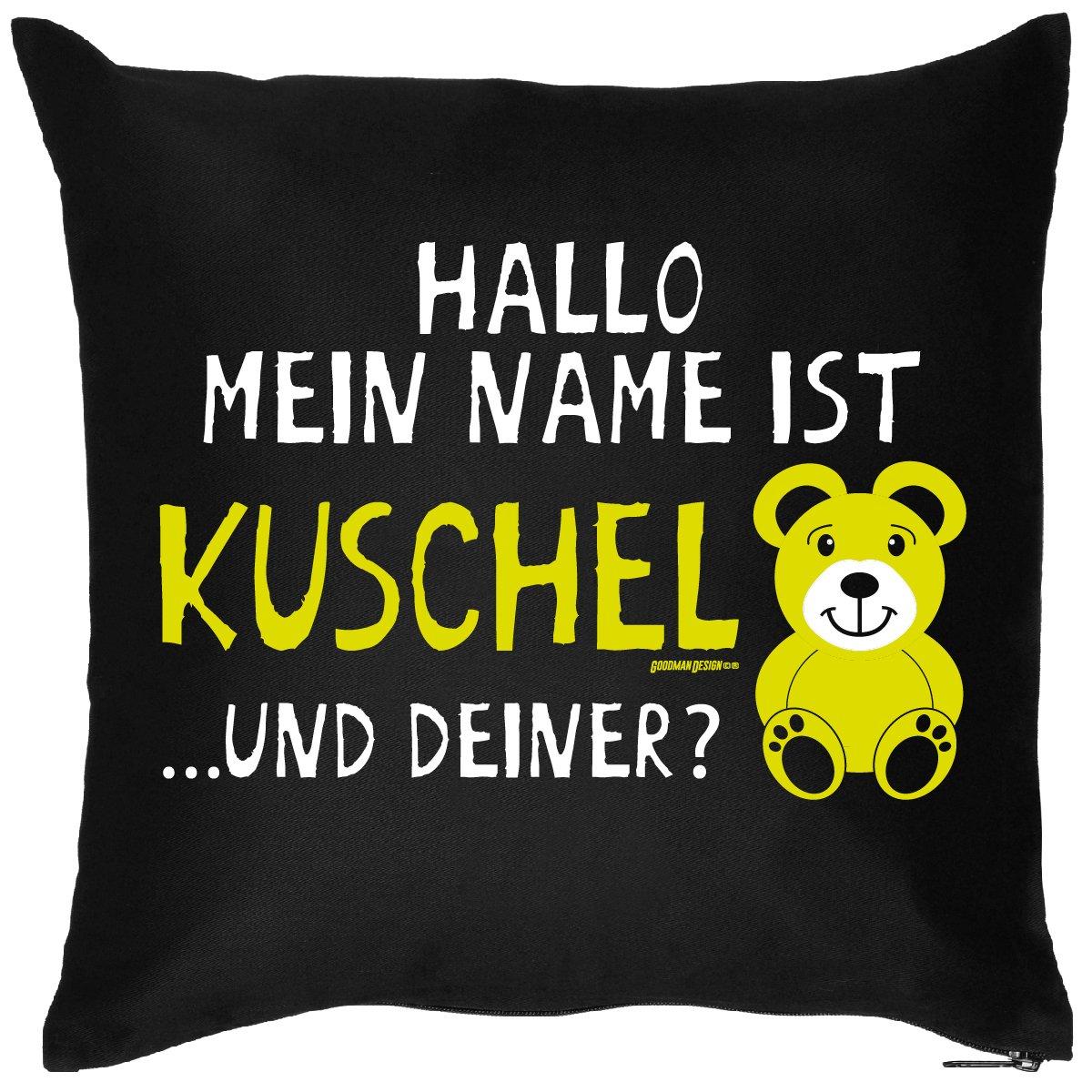 bedrucktes Sprüche Sofa Kissen: Kuschelbär – lustiges witziges Geschenk Dekokissen Couchkissen Sofakissen Geburtstag günstig online kaufen