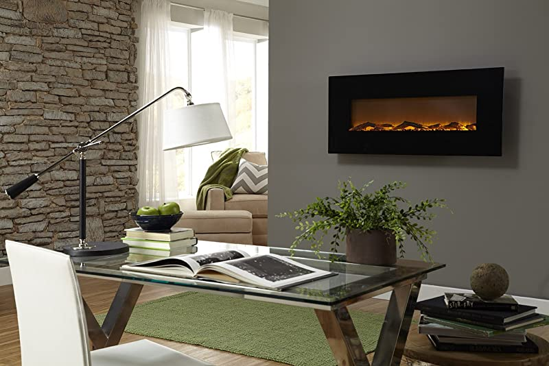Touchstone 50″ Onyx Electric Wall Mounted Fireplace