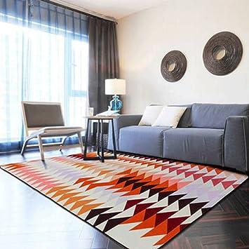 YHJ alfombra Alfombra Sala de estar nórdica Moderna Europea Dormitorio Moderno Full House Mesa de centro Sofá Habitación Escritorio de la cama Rectángulo ( Color : D , Tamaño : 190cmX280cm )