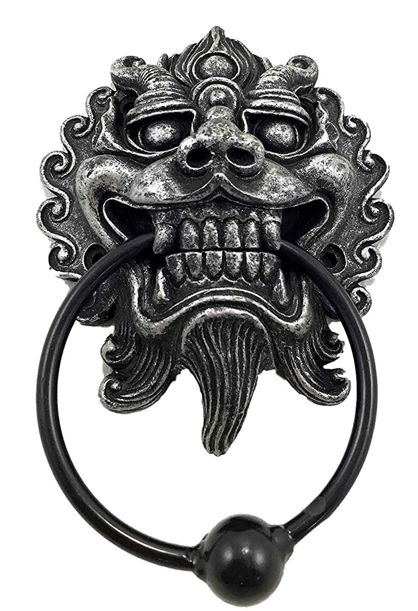 Far East Oriental Ryujin Japanese Dragon Door Knocker Figurine Resin With Metal