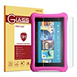 All-New Fire 7 / Fire 7 Kids Edition Screen Protector(Will Not Fit the 2015 version) OMOTON Tempered Glass Screen Protector with [Crystal Clear][Scratch Resistant] for All-New Fire 7 / Fire 7 Kids Edition [7 Inch](ONLY 2017 Released) (Color: Clear)