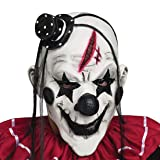 YUFENG Scary Clown Mask for Adults for Halloween Party (Color: Black Hair)
