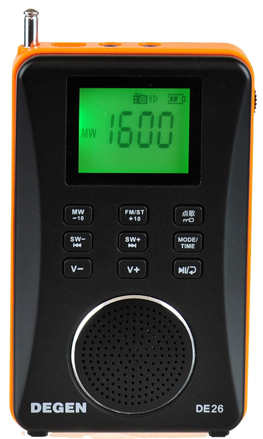 Degen DE26 3-in-1 Rechargeable AM/FM Shortwave Radio, Portable Speaker & MP3 Player with Built-in Micro SD/TF Card Reader rechargeable portable 1 3 lcd tf usb mp3 music speaker with fm radio black 3 5mm jack