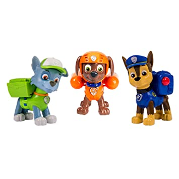 Paw Patrol - 6024061 - Figurine Animation - Pack De 3 - Sac à dos Transformable 2 - Paw Patrol