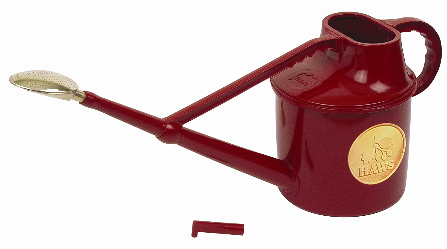 Haws Deluxe 7-Litre Outdoor Watering Can, Red
