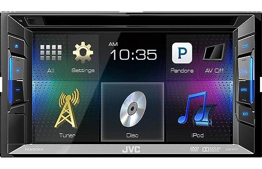 JVC KW-V11E Autoradio Noir