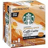 Starbucks Pumpkin Spice Caffe Latte K-cups Limited Edition ( 2 Boxes) (Color: Pumpkin, Tamaño: 12 Count (2x 6 Count))