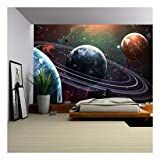 wall26 - Outer Space Universe Wallpaper - Canvas Art Wall Decor - 66