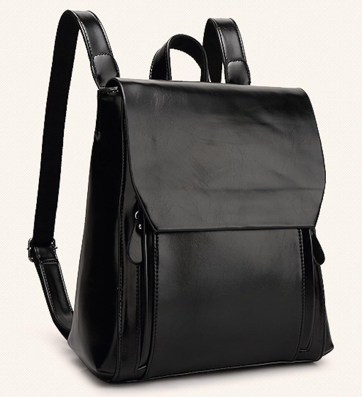 Amazon.co.jp: (サージアンジュ)Sage ange コンパクトにしっかり収納ファッションレザーバッグ レザー バッグ リュック リュックサック シンプル ブラック ネイビー ブラウン グリーン レッド 深緑 ワインレッド (ブラック): シューズ&バッグ:通販