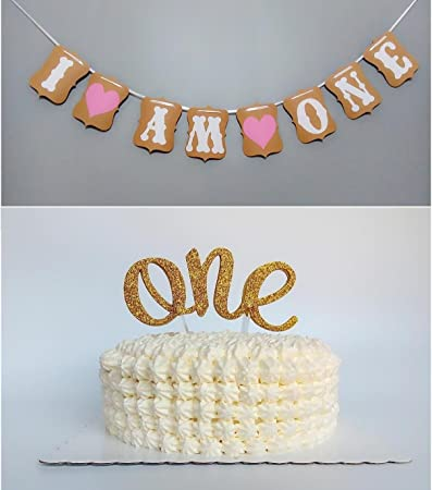 buy sweet heart first birthday cake topper one decoration on birthday cake toppers online india